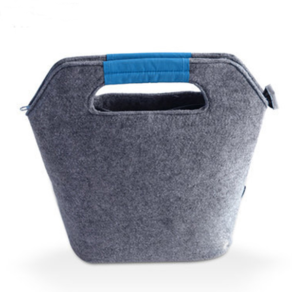 保冷バッグ フェルト素材 大容量ランチバッグ お弁当入れ