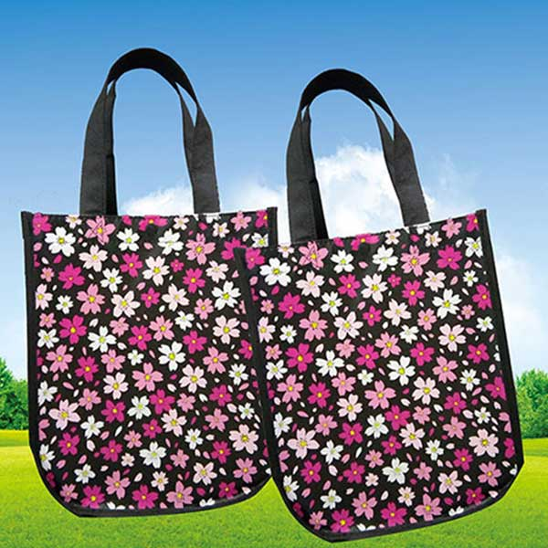 不織布エコバッグ 大容量 安い 肩掛けバッグ 名前入 印刷バッグ お買い物バッグ