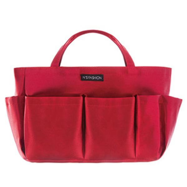 バッグインバッグ レディース 収納バッグ「トモウ」オリジナル製作 化粧ポーチ 多機能 大容量 コスメも入るインナーバッグ ボルドー