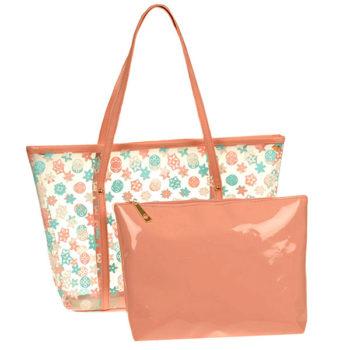 ビニール親子バッグ オリジナルバッグ  透明バッグ レディース クリアバッグ 水泳 プール ビーチバッグ かばん キッズ ジュニア