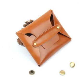小銭入れOEM 本革コインケース ブラウン ピンク「トモウ」オリジナル製作 小ロット仕入れ製作可
