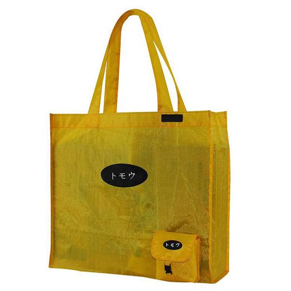 OEM折りたたみエコバッグ コンビニ袋「トモウ」製作 折り畳み ショルダーバッグ 買い物バッグ 収納ポーチ付き