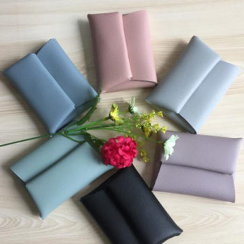 レザー コインケース ピンク トモウハンドバッグ製作 軽量薄型 小銭入れケース