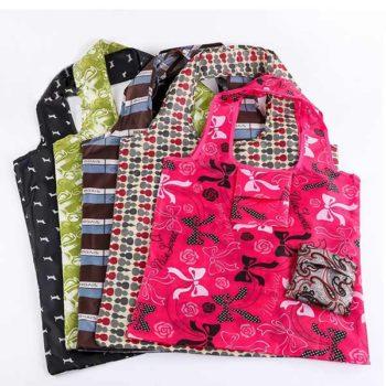 エコバッグ ポリエステル素材 ショッピングバッグ「トモウ」オリジナル製作 折りたたみ 収納袋付 大容量 エコイーナ 小ロット 卸し売り
