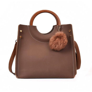 新製品 ショルダー木製リングバッグ ブラウン「トモウ」オリジナル製作 人気おしゃれ 2wayバッグ