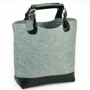 OEMフェルトバッグ グレー コンピュータバッグ 高級トートバッグ オシャレ ショッピングバッグ