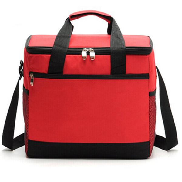 保冷バッグOEM 大容量 レッド「トモウ」オリジナル製作 ショッピングバッグ ボックス型 保冷バッグ