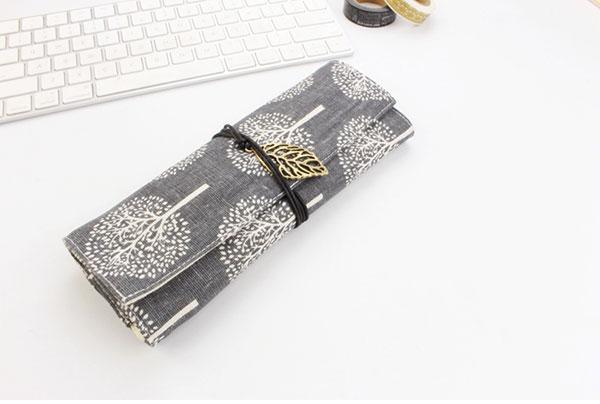 綿布 メンプ ペンケース 薄型 筆箱 オリジナル製作 収納力