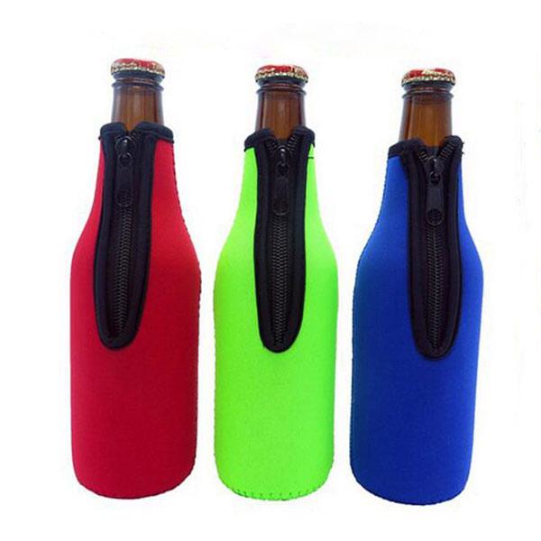 ビール瓶カバー レッド プルー 缶カバー ビール/ソーダ/飲料 ボトルカバー トモウオリジナル製作 クーラーカバー