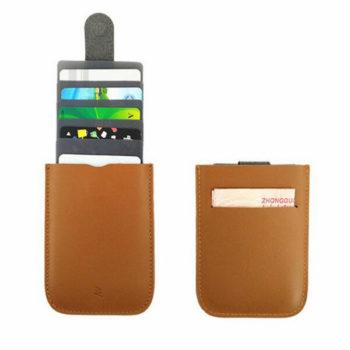 スリムタイプ 牛革 カードケース マグネット付き スライド式 カードホルダー 5枚収納  持ち運びやすい 男女兼用