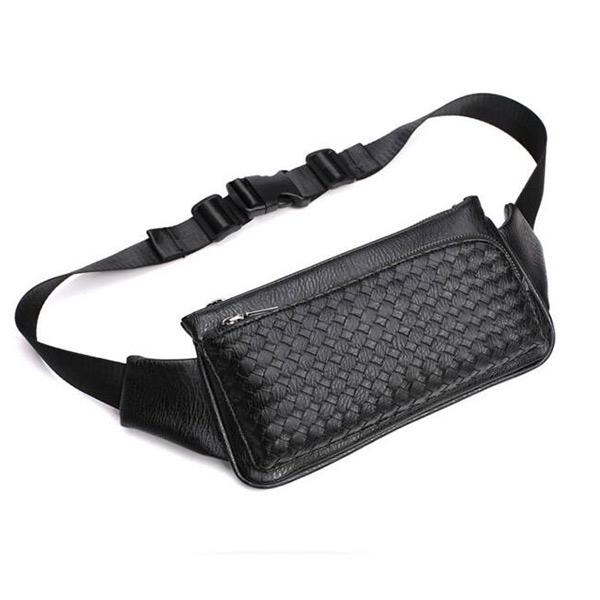 メンズ レザー ウェストポーチ 小物の収納に便利 ボディーバッグ 仕事用 斜めがけバッグ ワンショルダーバッグ