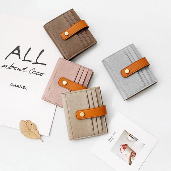 おしゃれ 二つ折りカードケース 定期入れ クレジットカードいれ 身分証明書 財布 ウォレット 薄型カードケース メンズ レディース
