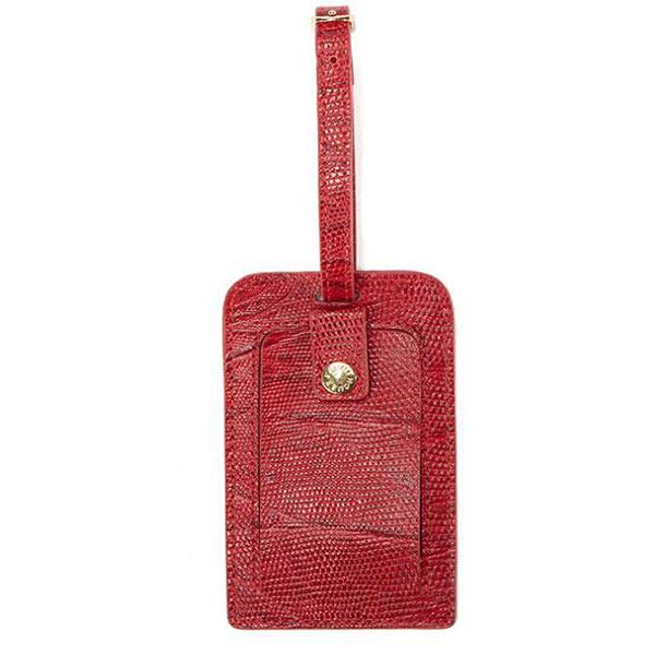 荷物タグ レザーネームタグ レッド スーツケースネームタグ オリジナル小ロット 卸し売り対応