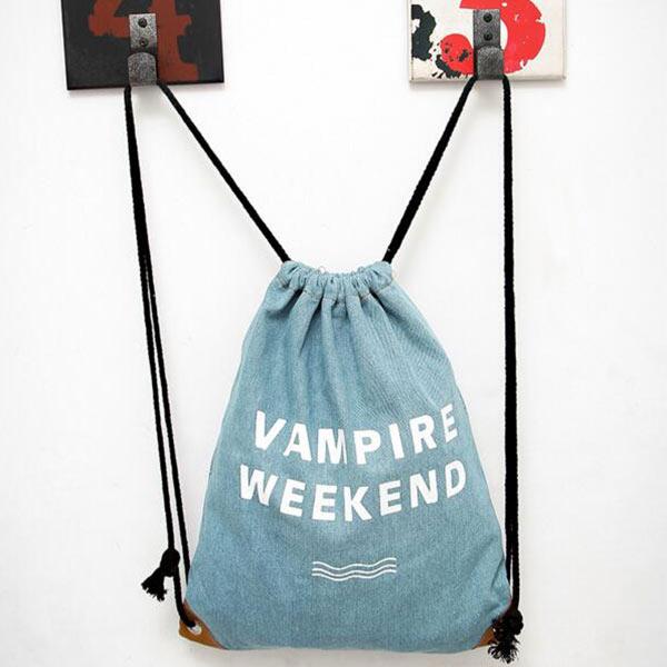 リュックサック デニム巾着バッグ トモウオリジナル製作 ショルダーバッグ メンズ レディース カジュアル 旅行 通勤通学