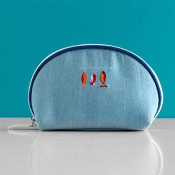 デニム収納ポーチ 激安 かわいい シェルタイプ 便利グッズ 旅行用品 お出かけ用 化粧ポーチ メイクポーチ 耐久性
