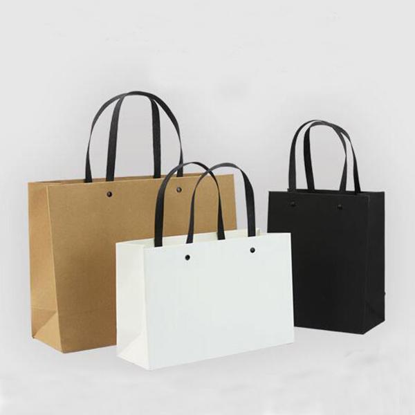 ラッピング用品 かわいい ギフトバッグ Sサイズ  ブラック トモウハンドバッグ製作 無地袋 手提げ紙袋