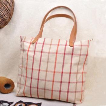 レディース手提げバッグ 麻製 トモウハンドバッグ製作 マザーズバッグ トートバッグ 大容量 買い物バッグ