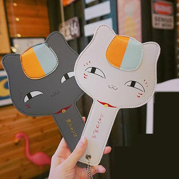 カードケース 猫 ニャンコ 先生 PUレザー素材 サイズ指定可能