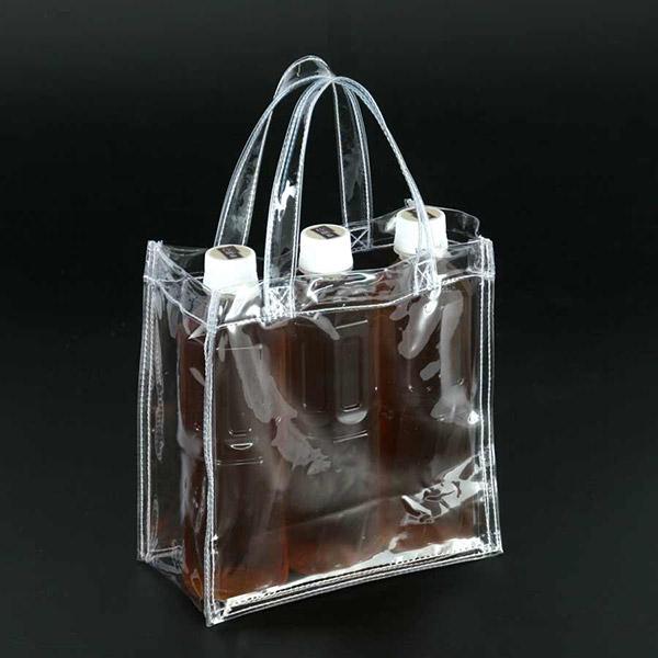 透明バッグ カラー シースルーバック 厚さ ポケット付き