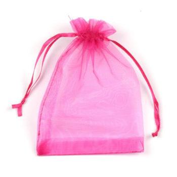 ギフトバッグ オーガンジー ピンク 巾着袋 ウェディングバッグ ジュエリーポーチ 巾着ギフトバッグ 小物収納