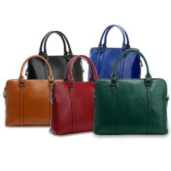 レディース ビジネスバッグ 牛革 ブラウン ハンドバッグ(2WAY仕様) カジュアル ビジネス 通勤用 通勤バッグ ショルダー付け