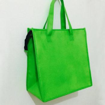 OEM不織布 保冷バッグ ランチバッグ 保温保冷袋 グリーン ブランク オリジナル名入れ製作 小売