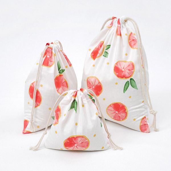 雑貨 布 便利 柔らかい ランチ巾着 オリジナル製造 可愛い 人気