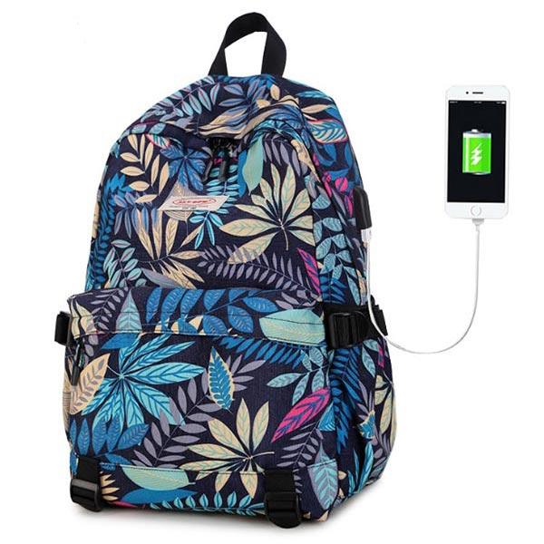 旅行バッグ 花柄ショルダーカバン パソコン収納 撥水多機能 大学生バッグ