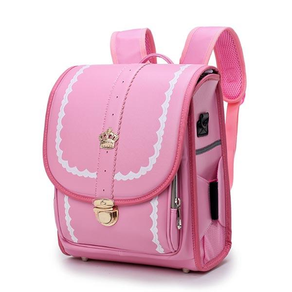 スクールバッグ 小学生向け 兒童バッグ 合皮 pu 生地 ショルダー鞄