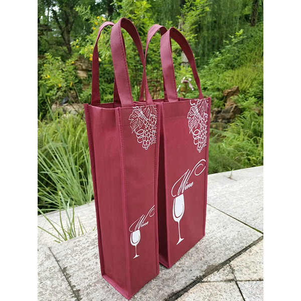 ワインバッグ ワイン手提げ袋 プレゼントバッグ 不織布ワイン袋 不織布手提げ袋