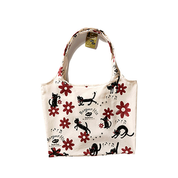 イラストバッグ キャンバス鞄 エコトートバッグ 多収納 通勤バッグ