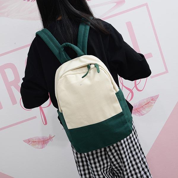 出掛けカバン 丈夫 リュック キャンバス 旅行 ファッションスクールバッグ