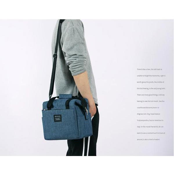 防水 人気 弁当袋 手上げ 大容量  保温バッグ 持ちやすい 肩かけ