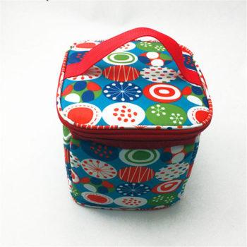 兒童ランチ袋 円形弁当バッグ 防水ランチバッグ 手提げバッグ 可愛いランチバッグ