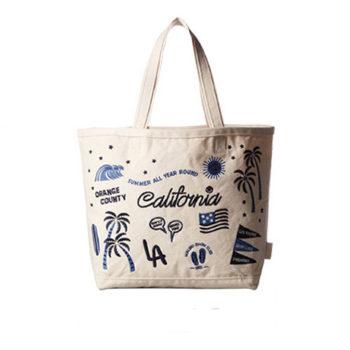 豊富な柄 刺繍バッグ 手提げバッグ ランチトート バッグ 雑貨 オリジナルキャンバス 卸売