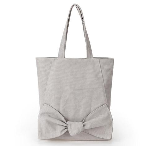 蝶結び飾り 手提げキャンバスバッグ 可愛い 縦型 カジュアル トートバッグ レディース バッグ オリジナルキャンバス 帆布