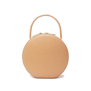 手つくりバッグ OEM 丸い型バッグ ハンドルバッグ 中国バッグ工場オリジナルバッグ レザーバッグ