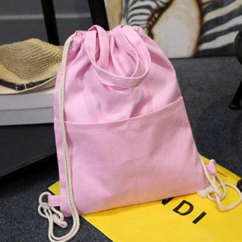 トモウ(智宇)オリジナル巾着袋 ナップサックバッグパック ポータブル 大容量 登山バッグ レジャー 旅行 かわいい キャンバス