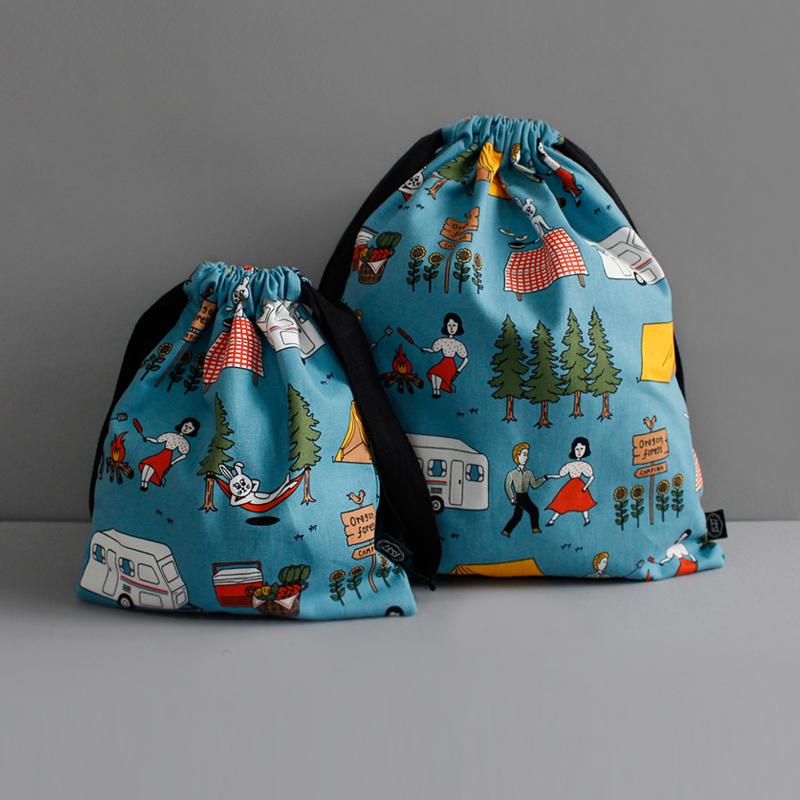 かわいい漫画オリジナル 巾着袋 小ロット家庭用品と旅行用品
