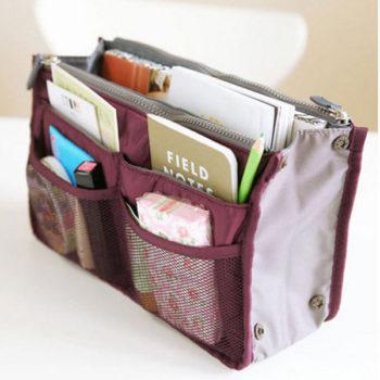インナーバッグ 大容量 収納バッグ メイクバッグ 多機能 化粧品収納ポーチ 旅行 通勤 便利グッズ bag in bag