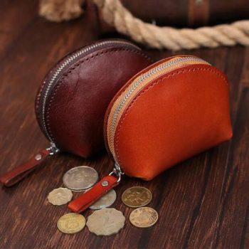 オリジナル 本革 小銭入れ シェルタイプ ブラウン「トモウハンドバッグ」製作 高級コーンケース 男女兼用 卸売小物