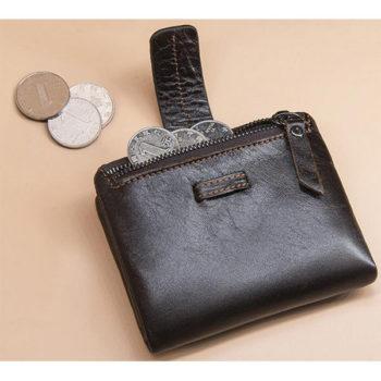 オリジナル 小銭入れ 本革 ブラック トモウハンドバッグ製作 メンズ 二つ折り財布 柔らかい牛革