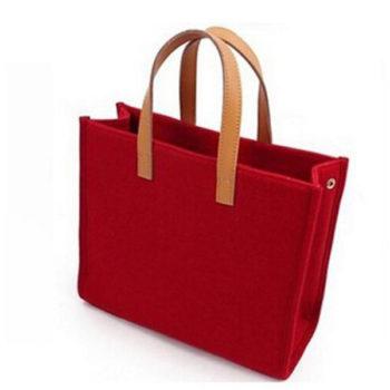 オリジナルフェルトバッグ グレー 手提げ2wayバッグ コンピュータバッグ オシャレ トートバッグ  収納バッグ