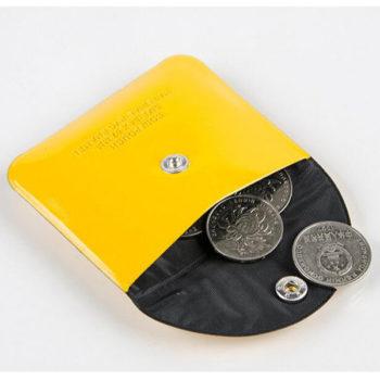 コインケース イエロー ミニ財布「トモウ」オリジナル製作 可愛い小銭入れ 他でない色もあり 男女兼用
