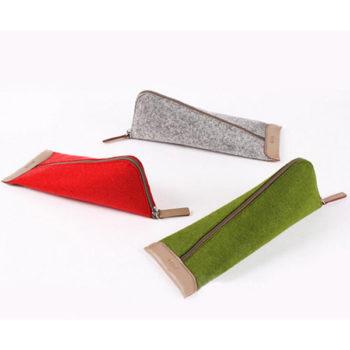 筆箱 フェルトベンケース グレー「トモウ」オリジナル製作 収納便利 小物入れ 学生 メイズ用