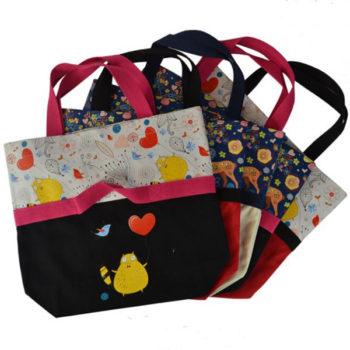OEMかわいい帆布バッグ クロ [トモウ」製作オリジナル レディース カジュアル 多機能 マザーズ バッグ キャンバスバッグ 小ロット 仕入れ