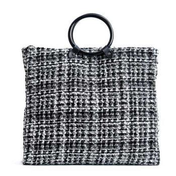 2018 春新製品 木製リング大容量 手提げトートバッグ 「トモウ」オリジナル製作 人気のハンドバッグ ギフトプレゼント