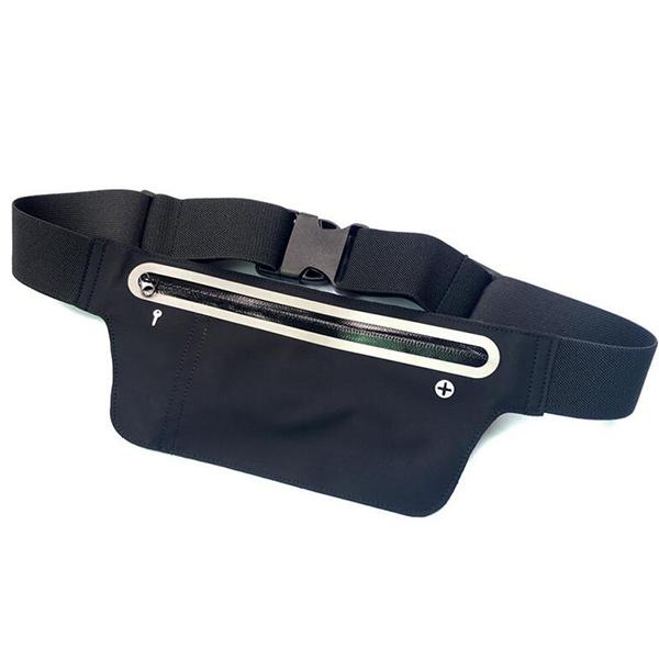 超薄型 ウエストポーチ  ランニングポーチ ジョギング ウォーキング 旅行用 シークレットポーチ ウエストバッグ iPhone 5.5インチまでのスマホ収納可能