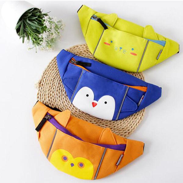 子供用ウエストポーチ イエロー キュート 面白い 可愛い 子どもバッグ キャラクター ボディバッグ 超軽量 軽い 子供 小物収納