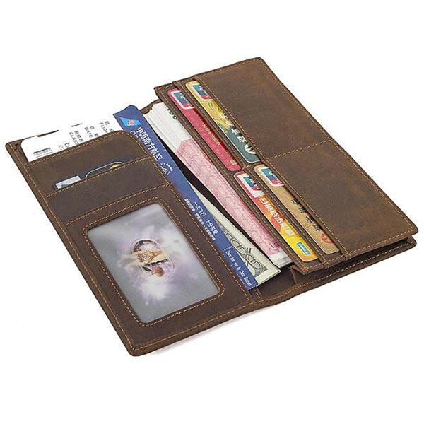 本革財布 長財布 メンズ 二つ折り 高級クレイジーホース カード大容量収納 高級本革 小ロット仕入れ対応